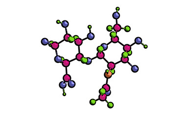 Molecular structure of hyaluronic acid