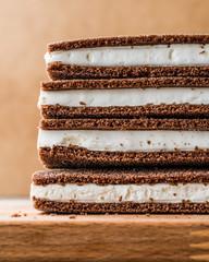 Milk Slice sandwich with cream.