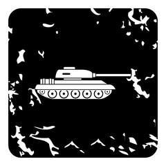 Tank icon, grunge style