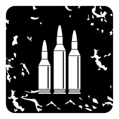 Bullets icon, grunge style