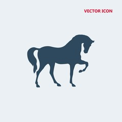 horse standing on three paws vector icon
