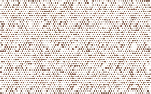 poster brown circles with transparency. banner balls of different sizes. white background. halftone effect. vector illustration