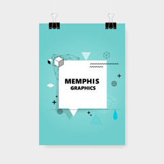 Memphis Style Cover or Flyer Design.