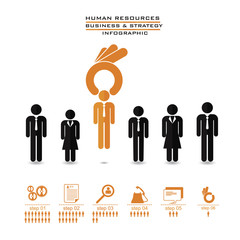 human resources concept – OK hand picking one, vector