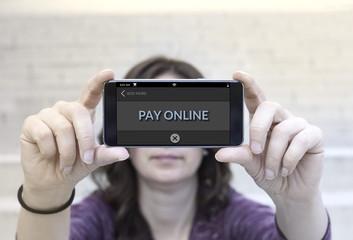 Smartphone online payment method concept