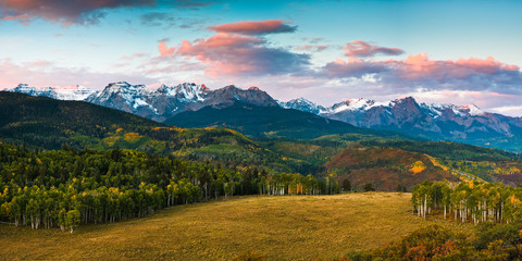 First Light in the San Juan Mountains