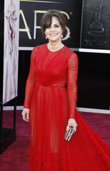 """Sally Field, best supporting actress nominee for her role in """"Lincoln"""", arrives at the 85th Academy Awards in Hollywood"""