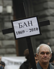Scientists from BAS attend rally in front of government building in Sofia