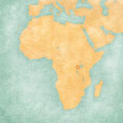 Map of Africa - Rwanda