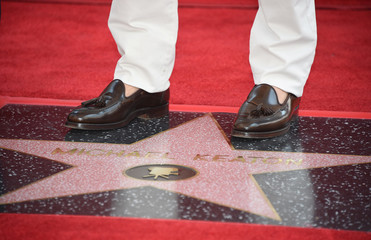 "Actor Michael Keaton receives a star on the ""Hollywood Walk of Fame"" in Hollywood, California"