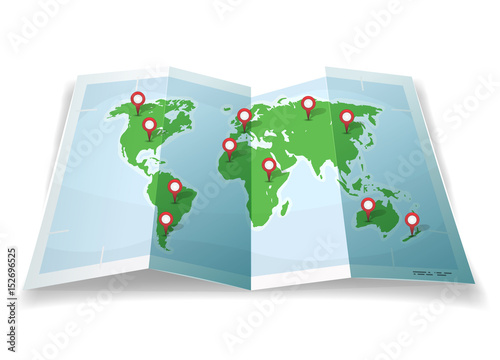 Travel world map with gps pins stock image and royalty free travel world map with gps pins gumiabroncs Images