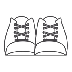 monochrome silhouette with pair of worker boots vector illustration