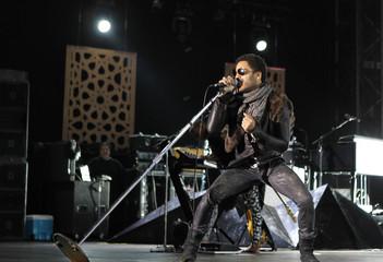 U.S. Singer Lenny Kravitz performs during the 10th Mawazine World Rhythms international music festival in Rabat