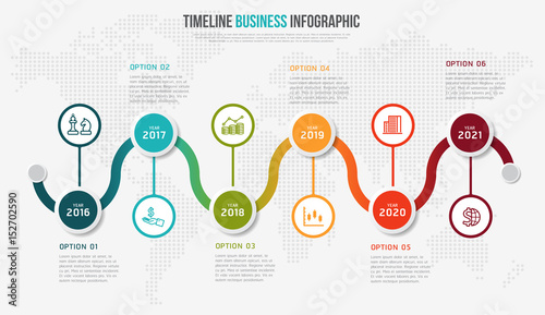 Vector infographics timeline design template with 3D paper label – Paper Design Template