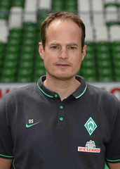 Werder Bremen's doctor Schwarz is pictured during the official team photo of German Bundesliga first division soccer club Werder Bremen in Bremen