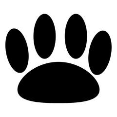 Animal trail black color icon.