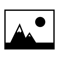 Picture of mountains and Sun icon.
