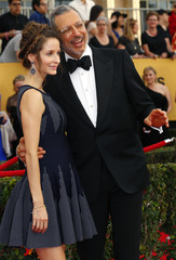 Actor Jeff Goldblum and his wife Emilie Livingston arrive at the 21st annual Screen Actors Guild Awards in Los Angeles