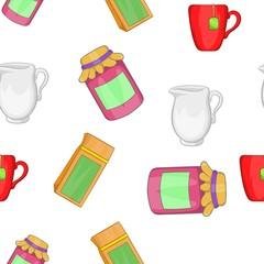 Tea pattern, cartoon style