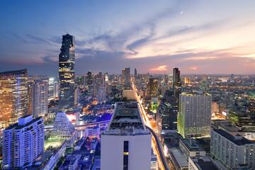 Bangkok city at twilight.