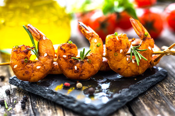 Grilled Honey Soy Shrimp