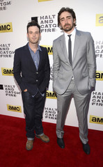 "Scoot McNairy and Lee Pace attend a premiere screening of the AMC series ""Halt and Catch Fire"" in Los Angeles"