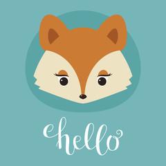 Cute fox head