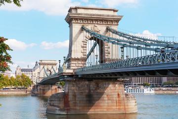 Budapest. Hungary. Chain bridge