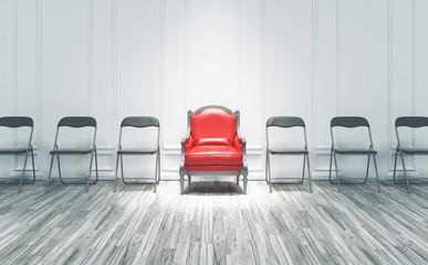 Poltrona tra sedie, potere, competizione, presidente