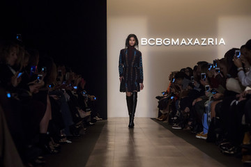 A model presents a creation from the BCBG Max Azria Fall 2015 collection during New York Fashion Week