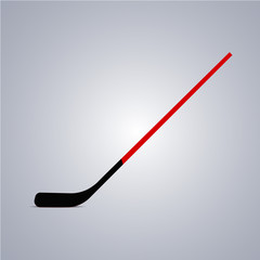 Hockey stick icon. Vector illustration
