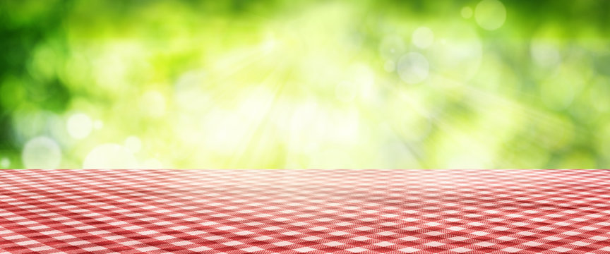 Tablecloth with spring background