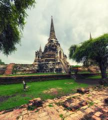 Wat Phra Si Sanphet Ayutthaya - Ayutthaya Historical Park has been considered a World Heritage Site Ayutthaya in Thailand.