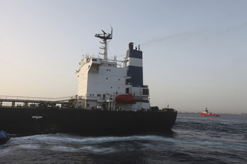 The Morning Glory is seen at the Tripoli port