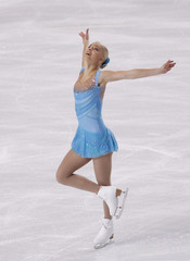 Kiira Korpi of Finland performs during the Ladies Short Program in the Bompard Trophy event at Bercy in Paris