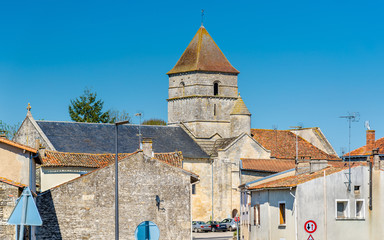 Saint Chartier of Javarzay Church in Chef-Boutonne village, France