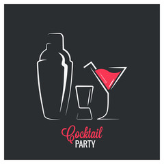 Cocktail shaker design background