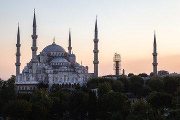 Istanbul's Blue Mosque at Twilight