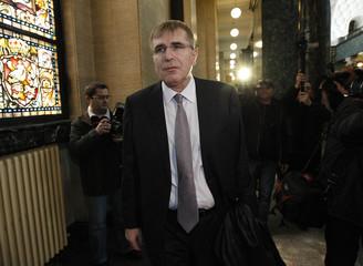 Bulgarian energy tycoon Hristo Kovachki arrives at court in Sofia
