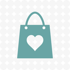 bag shopping vector icon