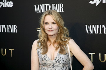 """Thompson poses at a cocktail party hosted by Vanity Fair and Spike TV to celebrate Spike's new event series """"Tut,"""" at Chateau Marmont in West Hollywood"""