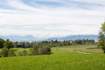 Idyllic view of Lindau, Bodensee, in South Germany - Stock image