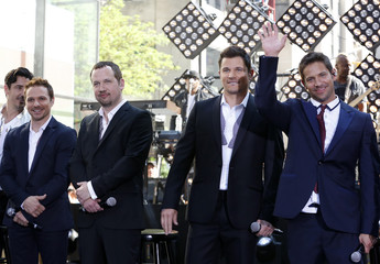 The band 98 Degrees appears on NBC's 'Today' show in New York