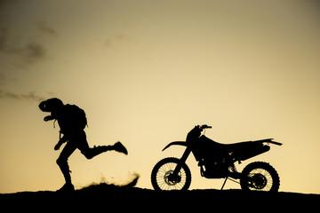 motosiklet ve insan gücü