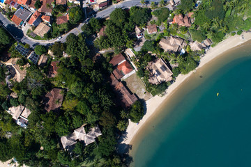 Top View of Paradise Beach in Ilhabela, Brazil