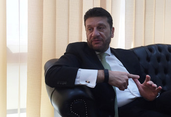 Amr El Monayer, vice Finance Minister for tax policy, speaks during an interview with Reuters at his office in Cairo