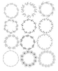 floral wreath-beautiful on a white background