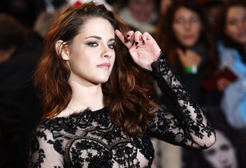 """Actress Stewart arrives for the European premiere of """"The Twilight Saga: Breaking Dawn Part 2"""" in London"""