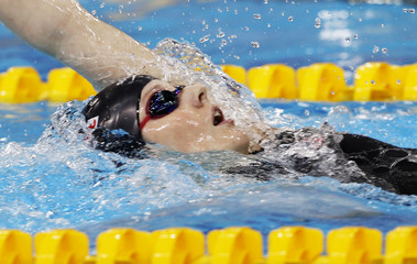 Franklin of the U.S. swims during the women's final 200m backstroke at the 10th FINA World Swimming Championships (25m) in Dubai