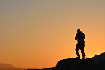 Zirvede gün batımı fotoğrafçılığı